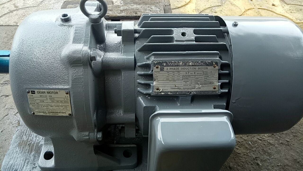 Motor giảm tốc 3.7kw...4p...1/10...1/15...1/20...SKK