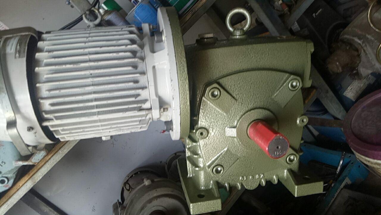 Motor giảm tốc trục vít...5 tấn